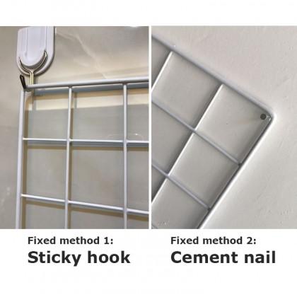28cmx38cm Multifunctional Iron Grid Photo Frame Wall Hanging Home Decoration DIY Storage Rack (BC23-0001) 99PERFECT