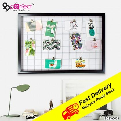 47cmx67cm Multifunctional Iron Grid Photo Frame Wall Hanging Home Decoration DIY Storage Rack