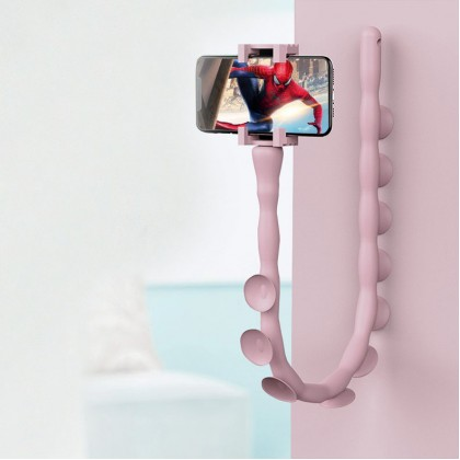 Creative Cartoon Cute Worm Lazy Mobile Phone Holder Stand 360 Rotating Bendable Flexible Suction Cup Phone Mount