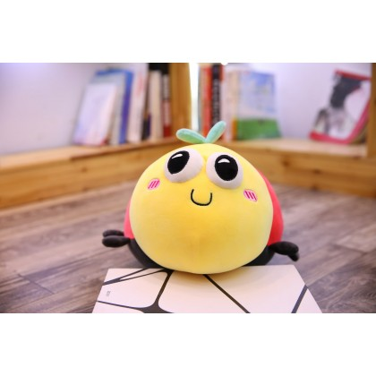 (Small) Ladybug Cartoon Stuffed Toy Plush Doll Soft Toy Super Soft Pillow Kid Gift 28*22*18