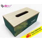 Wooden Tissue Box Home Tissue Container Tissue Holder Case for Office Home Decoration