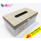 Wooden Tissue Box Home Tissue Holder Case Tissue Container for Office Home Decoration
