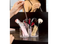 Clear Acrylic Cosmetic Storage Makeup Rack Display Organizer Box Make up Brush Eyeshadow Container