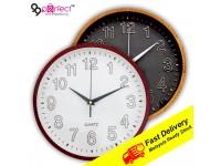 26cm Quartz Round Wall Clock Silent Moment