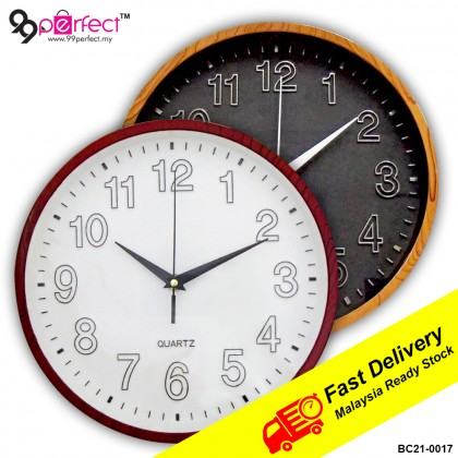 26cm Quartz Round Wall Clock Silent Moment (BC21-0017) 99PERFECT