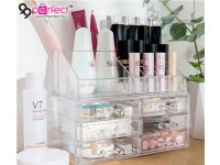 6 Drawers Clear Acrylic Cosmetic Storage Drawers Makeup Jewelry Storage Display Organizer Box Lipstick Holder Stand Make Up Rack Brush Eyeshadow Case Container