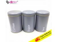 3 IN 1 Metal Box Coffe Sugar Tea Food Container Storage Organizers Bottles Home Kitchen