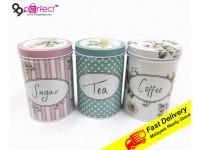 3 IN 1 Metal Box Coffe Sugar Tea Food Container Storage Organizers Home Kitchen