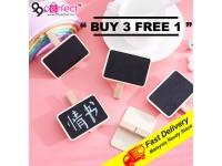 {BUY 3 PEK FREE 1 PEK} 4pcs in 1 pack Wooden Blackboard Clips Photo Clips Craft