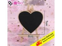 {BUY 3 PEK FREE 1 PEK} Love Shape Wooden Blackboard Mini