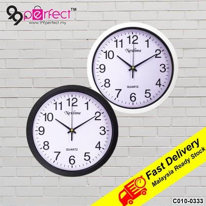 24.7CM Quartz Wall Clock Silent Moment Nextime Vintage Round Modern (C010-0333) 99PERFECT