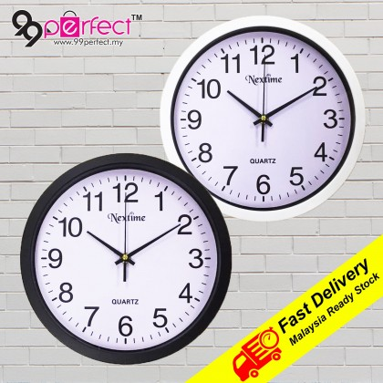 29.8CM Quartz Wall Clock Silent Moment Nextime Vintage Round Modern (C013-0067) 99PERFECT