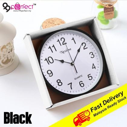 25.5cm Quartz Wall Clock Silent Moment Nextime Vintage Round Modern (C011-0171) 99PERFECT
