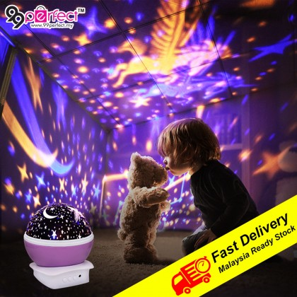 Stars Unicorn Sky LED Rotating Spin Projection Lamp Night Light Projector Children Bedroom Lamp (BC11-0084) 99PERFECT