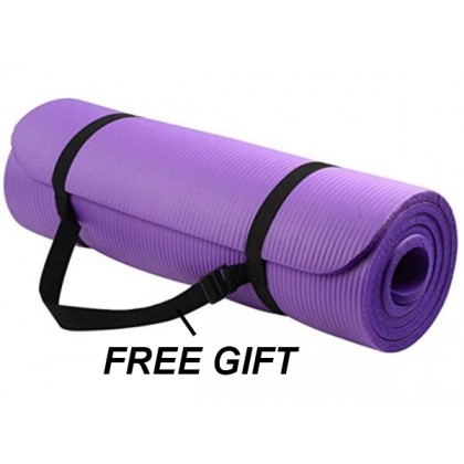 173cmx61cm Yoga Mat Extra Thick 6MM Non-Slip Anti-Skid Mat Home Gym Workout Exerciser Free Carry Strap (BC24-0003) [ 99PERFECT ]