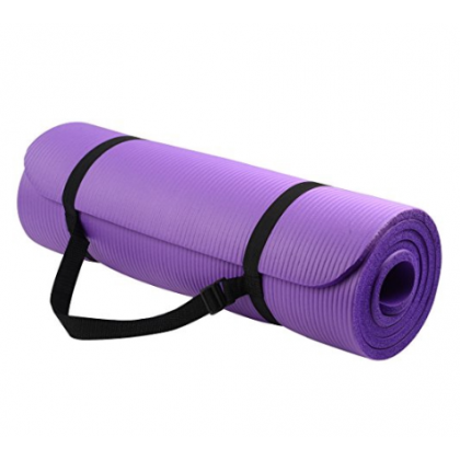 183cmx61cm Yoga Mat Extra Thick 10MM Non-Slip Anti-Skid Mat Home Gym Workout Exerciser Free Carry Strap (BC24-0005) 99PERFECT