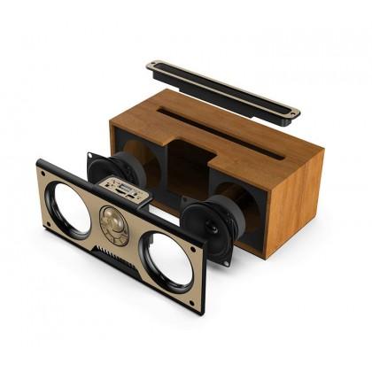 Portable Wooden Wireless Bluetooth Speaker Phone Holder Kimiso KM-7 (BF-0502) 99PERFECT
