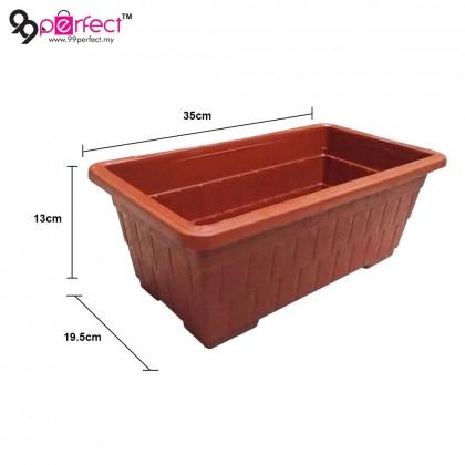 6pcs Rectangle Garden Plastic Flower Pot (M002-2939) [ 99PERFECT ]