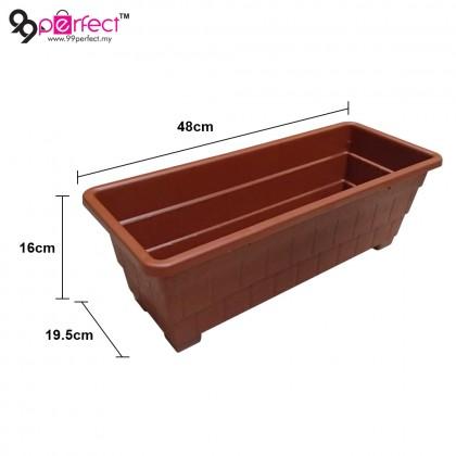 3pcs Rectangle Garden Plastic Flower Pot (M005-1129) 99PERFECT
