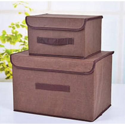 2 in 1 Foldable Storage Box Toys Clothes Storage Bin Organizer Basket (BC19-0233) 99PERFECT